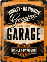 Harley Davidson Garage - 3D  Metal Wall Sign